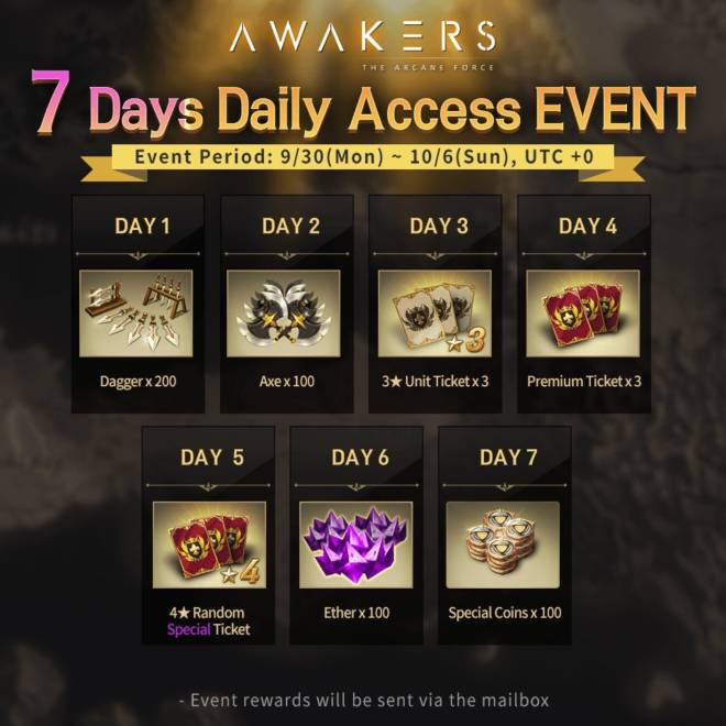 AWAKERS: Event - New 7 Days Daily Access EVENT is ready! image 5
