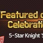 'Featured on Google Play' Celebration Giveaway! (5-Star Knight 'Seimei' and More)