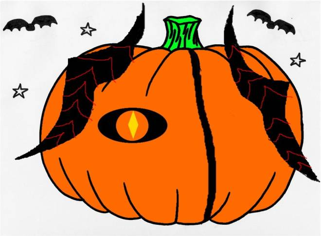 HEIR OF LIGHT: Pumpkin Carving Design Contest - Ignis' Horns... and an eye image 2