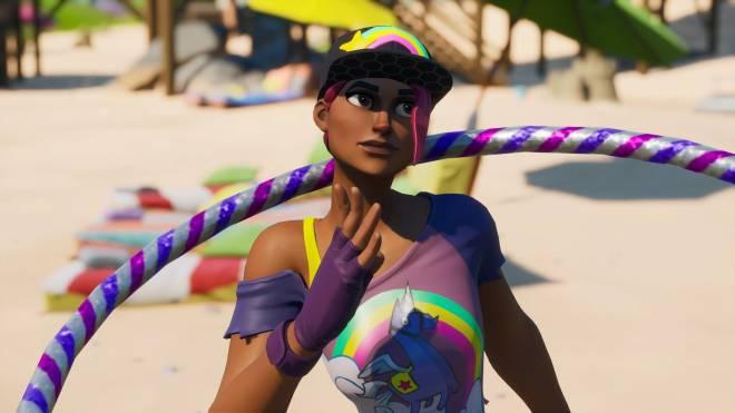 Fortnite: Battle Royale - Beachy Beauty... 🏖️💕✨(Beach Bomber Showcase)  image 10