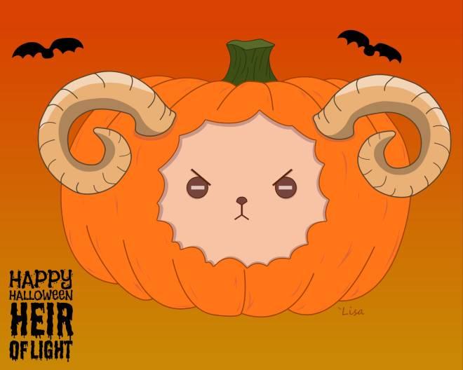HEIR OF LIGHT: Pumpkin Carving Design Contest - O'Dhalia Rem's DemonSheep image 2