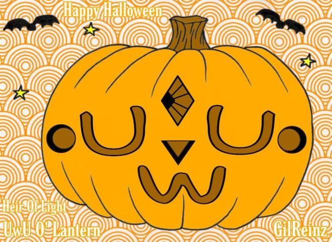 HEIR OF LIGHT: Pumpkin Carving Design Contest - UwU O' Lantern - Pumpkin Design image 2