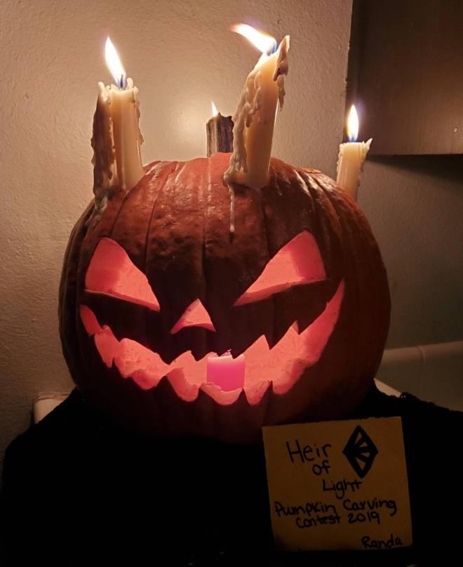 HEIR OF LIGHT: Pumpkin Carving Design Contest - Gretel Pumpkin :)  image 1
