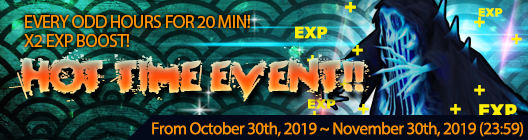 4Story - Age of Heroes: event - EXP BOOST HOT TIME EVENT (Oct 30, 2019 ~ Nov 30, 2019 image 1