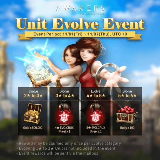 AWAKERS: Event - UNIT EVOLVE EVENT! image 1