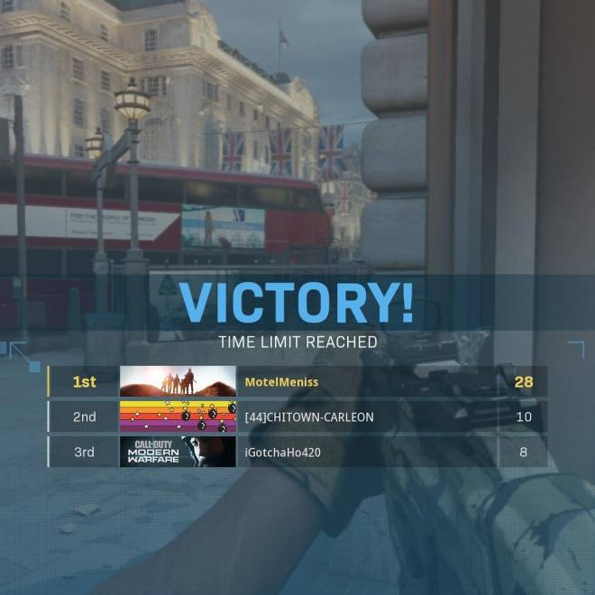 Call of Duty: POTG - FFA I was first 28 second was 10 image 2