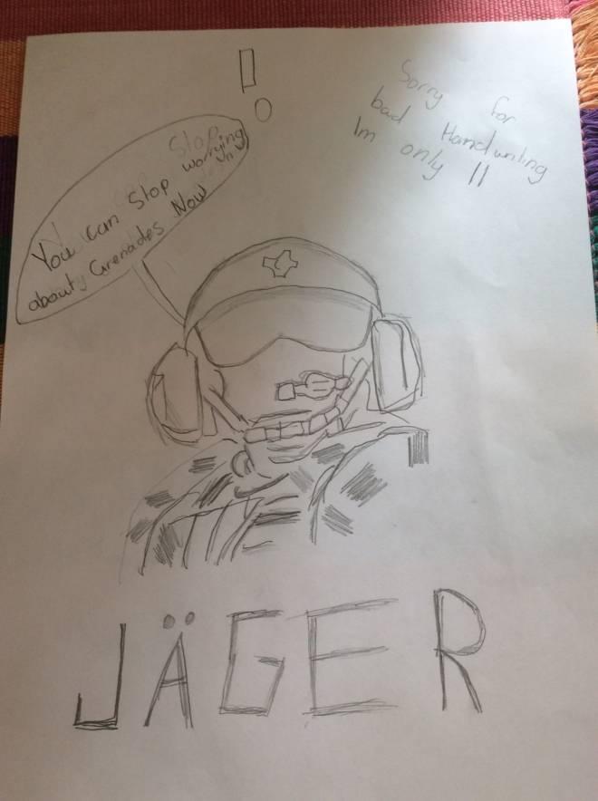 Rainbow Six: Art - My First Jäger Drawing  image 1
