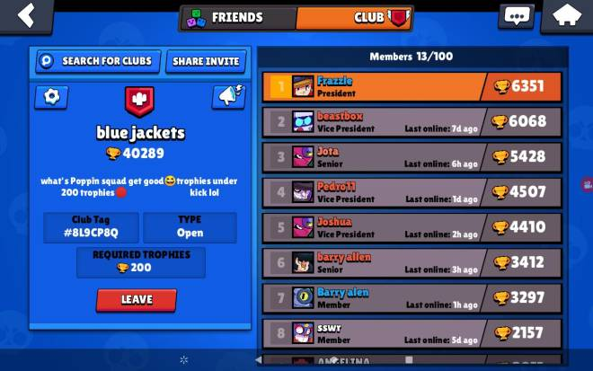 Brawl Stars: Club Recruiting - Plz join ma club image 1