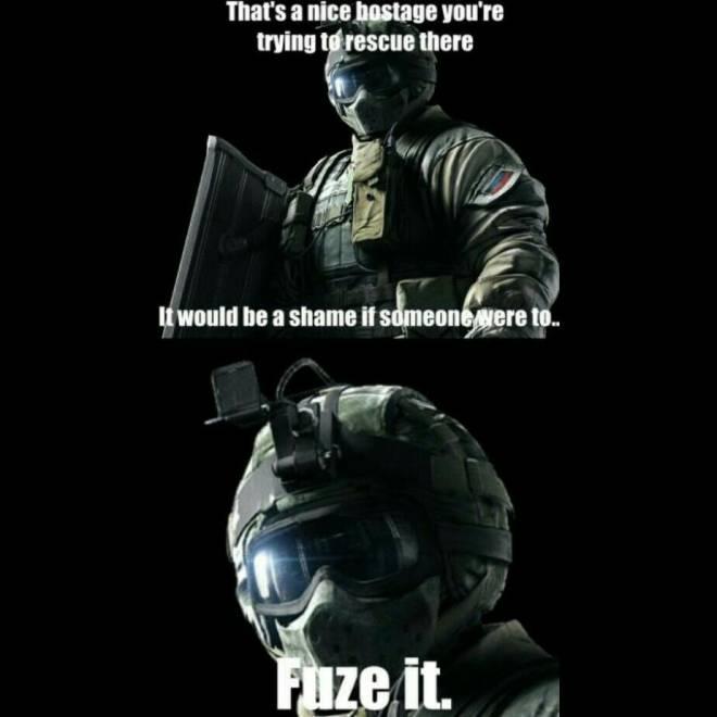Rainbow Six: Memes - #Fuze image 2