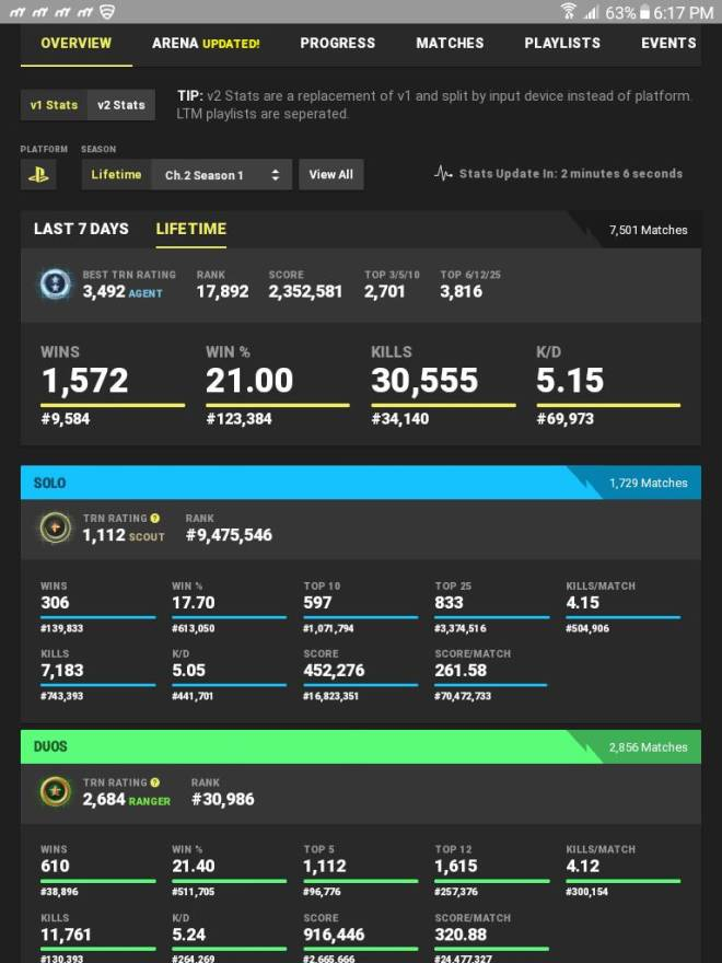 Fortnite: Battle Royale - Here's a pic of my stats you bots drop your epic if your good.  image 1