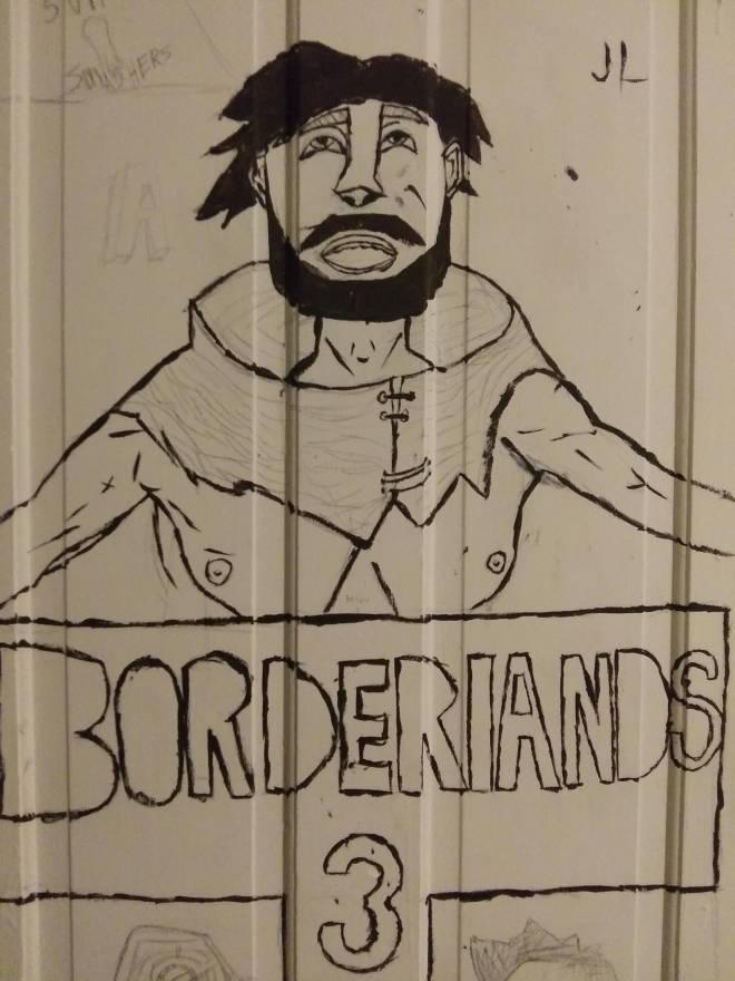 Borderlands: General - A painting of vaughn the best npc on my door image 2