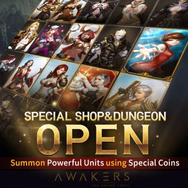 AWAKERS: Notice - [Special Coin Shop NOW OPEN for curious adventurers!] image 2