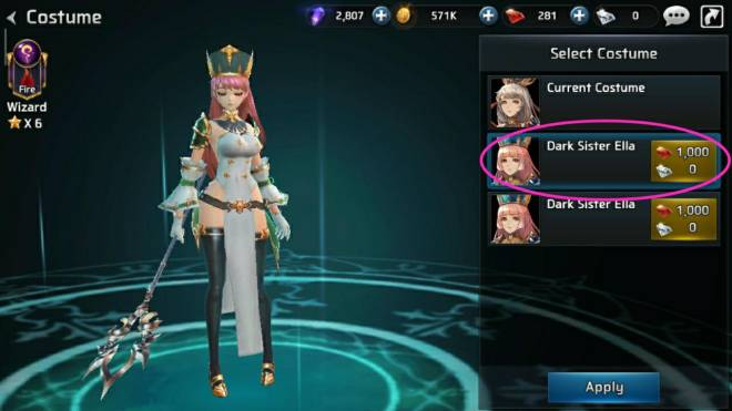 Ceres M: ★ Suggestions & Bug Reports - Two Ella dark sister costume image 4