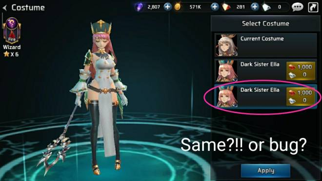 Ceres M: ★ Suggestions & Bug Reports - Two Ella dark sister costume image 3
