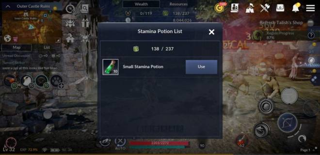 Black Desert Mobile: General - [Tip] Tasks before you go to bed image 8