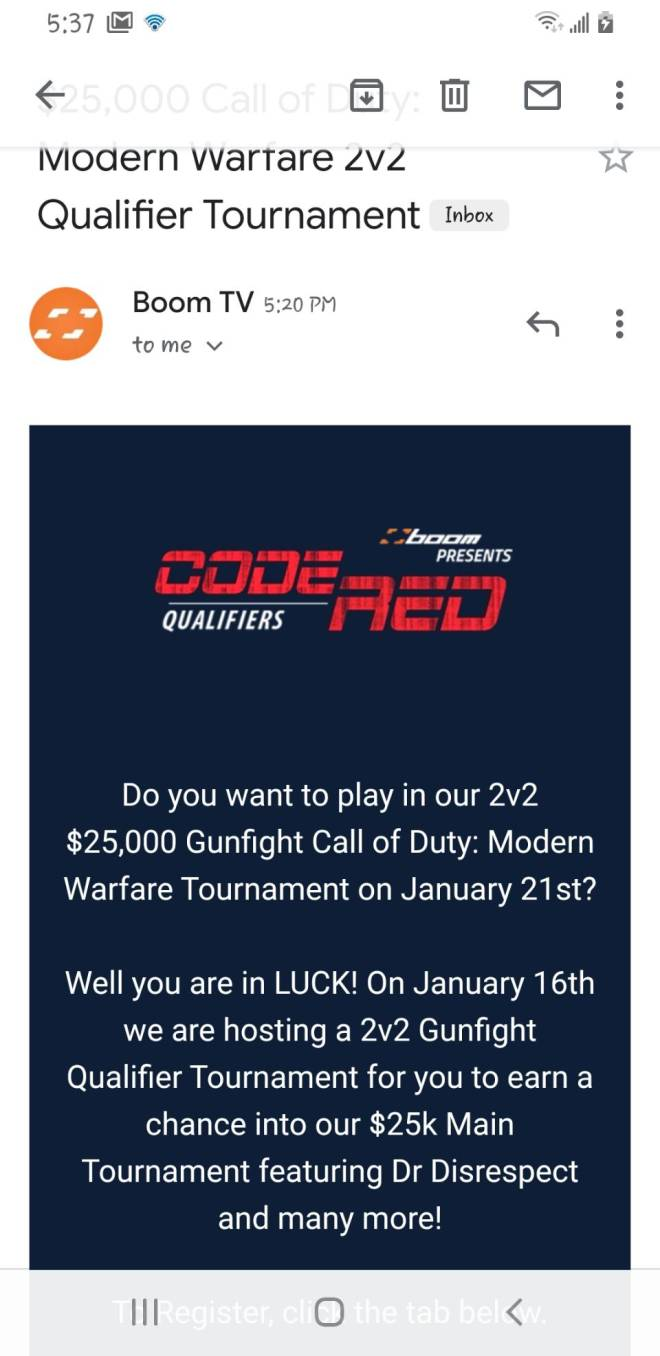 Call of Duty: Promotions - Who wants join tournament image 2