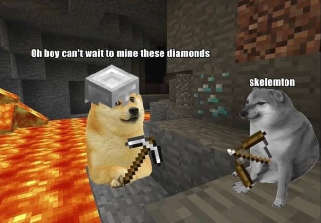 Minecraft: Memes - Me In the Cave image 1