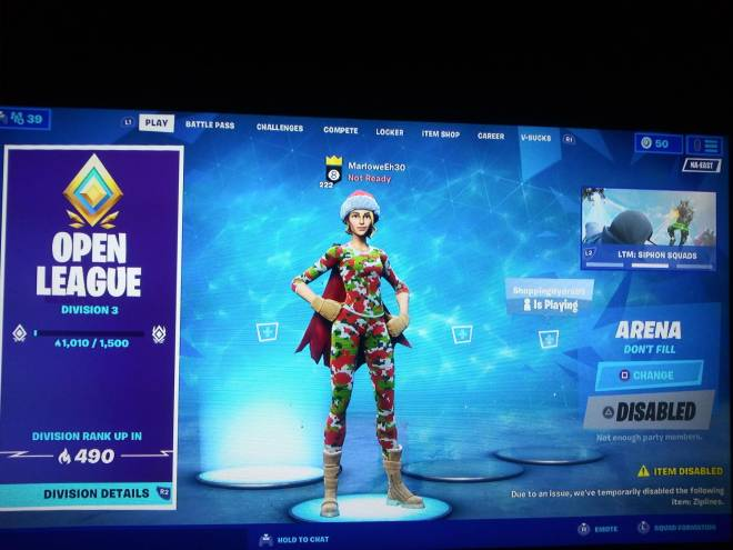 Fortnite: Looking for Group - Just started arena yesterday Na east servers arena duo partner 1.1k and up Division 3 and up MUST HA image 3