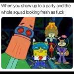 Me and my friends in the night club