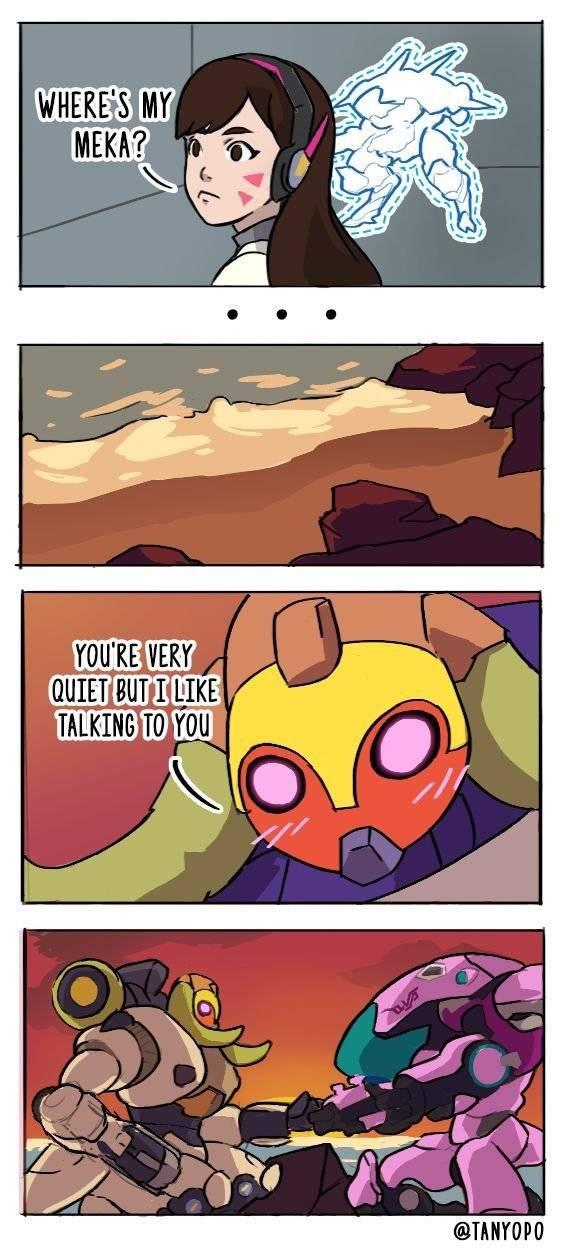 Overwatch: Memes - Orisa and Meka image 1