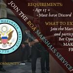 Citizens the Marshals needs you to join the ranks.