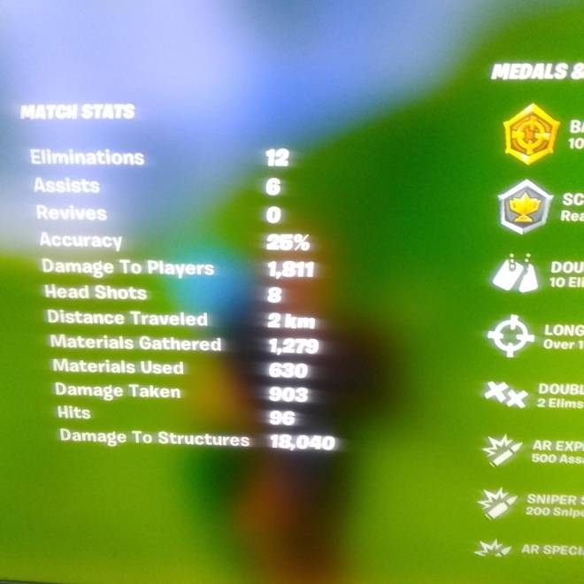 Fortnite: General - Played solo squads and choked a 40 bomb cuz I'm shit don't have a photo cus I was shaking but here image 1