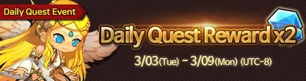 60 Seconds Hero: Idle RPG: Events - [Event] Daily Quest Reward x2! 3/03 – 3/09 (UTC-7) image 1