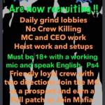 Anyone looking for an awesome crew?  ps4 must have discord!!!