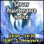 Server maintenance notice.