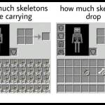Skeletons in Minecraft be like: