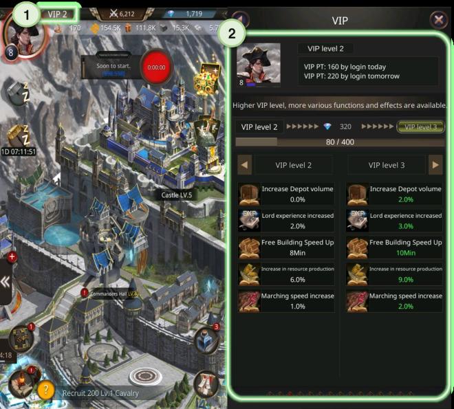 VERSUS : REALM WAR: Game Guide - ▣ VIP  image 2
