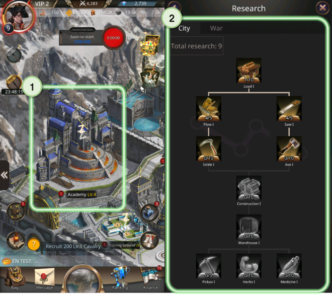 VERSUS : REALM WAR: Game Guide - ▣ Research Lab  image 2