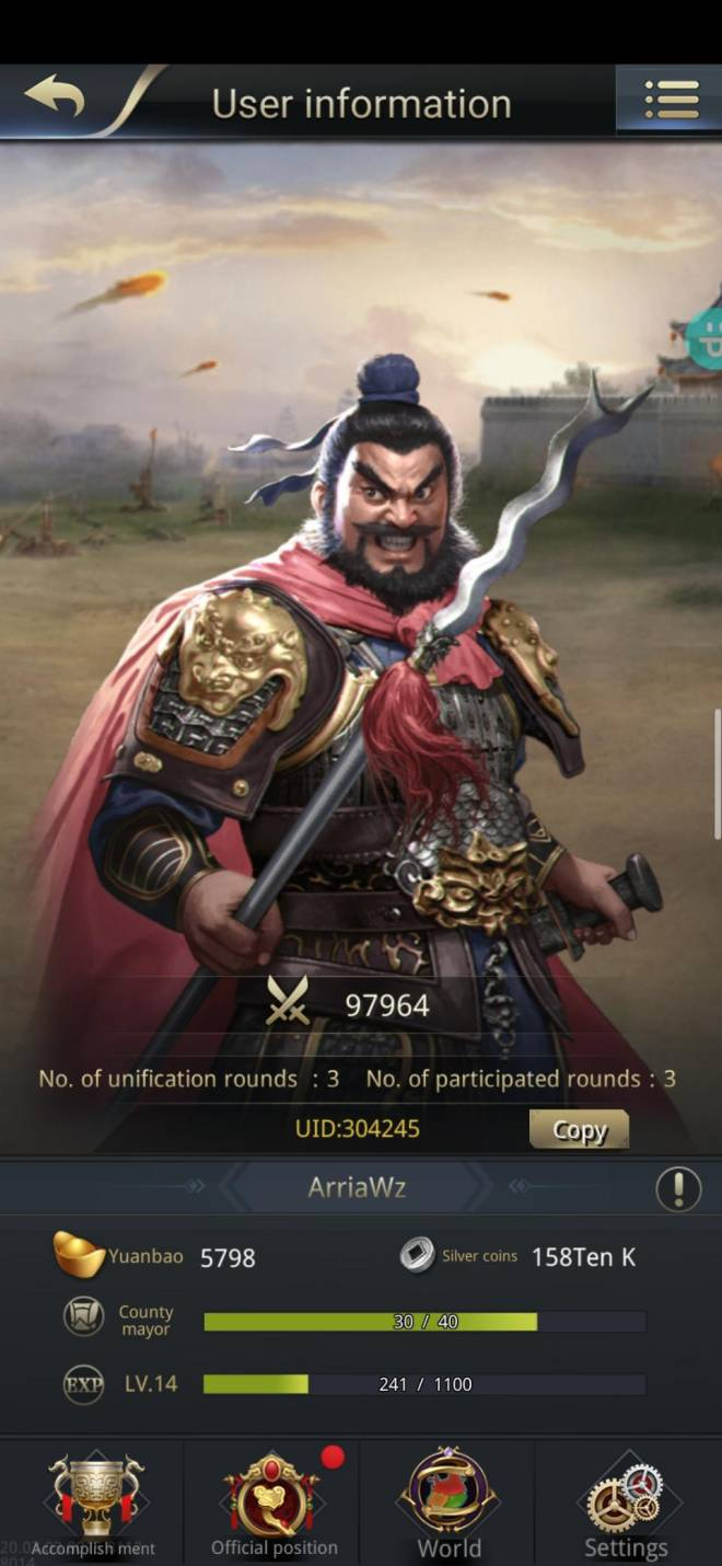 Three Kingdoms RESIZING: Limited General Board [Zhang Fei], END - ArriaWz / Channel 3 / 304245 image 2