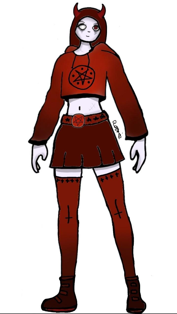 Fortnite Devil Girl Costome Demon Girl Fortnite Concept Skin Fortnite
