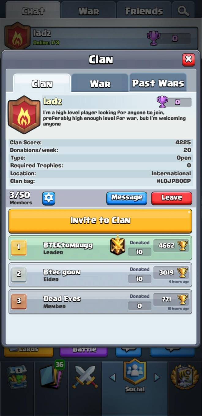 Clash Royale: Recruiting - High level player looking for people to join my new clan  image 2