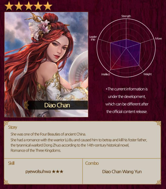 VERSUS : REALM WAR: Commander Guide - Asia Civilization Diao Chan image 2