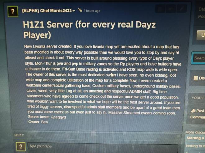 DayZ: General - PC days players wanted image 2