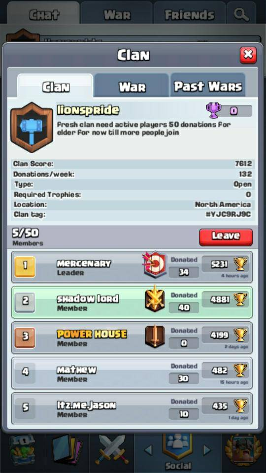 Clash Royale: Recruiting - New clan  image 2