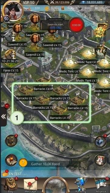 VERSUS : REALM WAR: Game Guide - ▣ Barracks  image 2