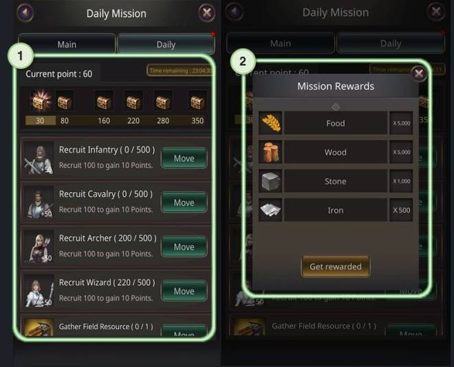 VERSUS : REALM WAR: Game Guide - ▣ Daily Mission  image 8