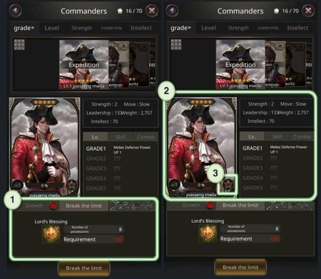 VERSUS : REALM WAR: Game Guide - ▣ Break the limitation  image 8