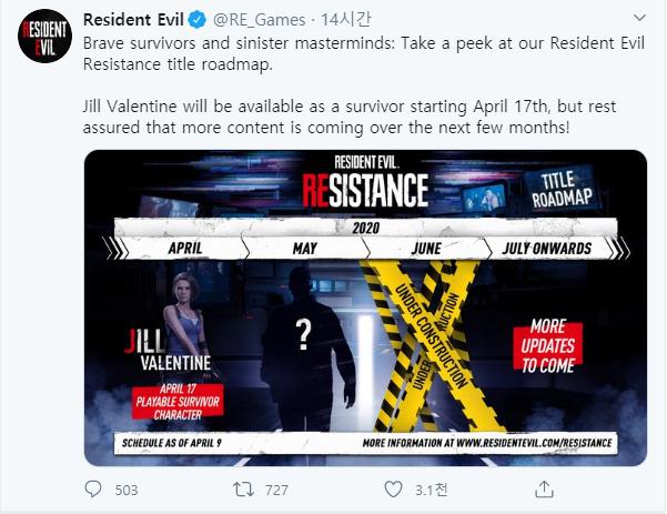 Resident Evil: General - Roadmap for Resident Evil Resistance image 2