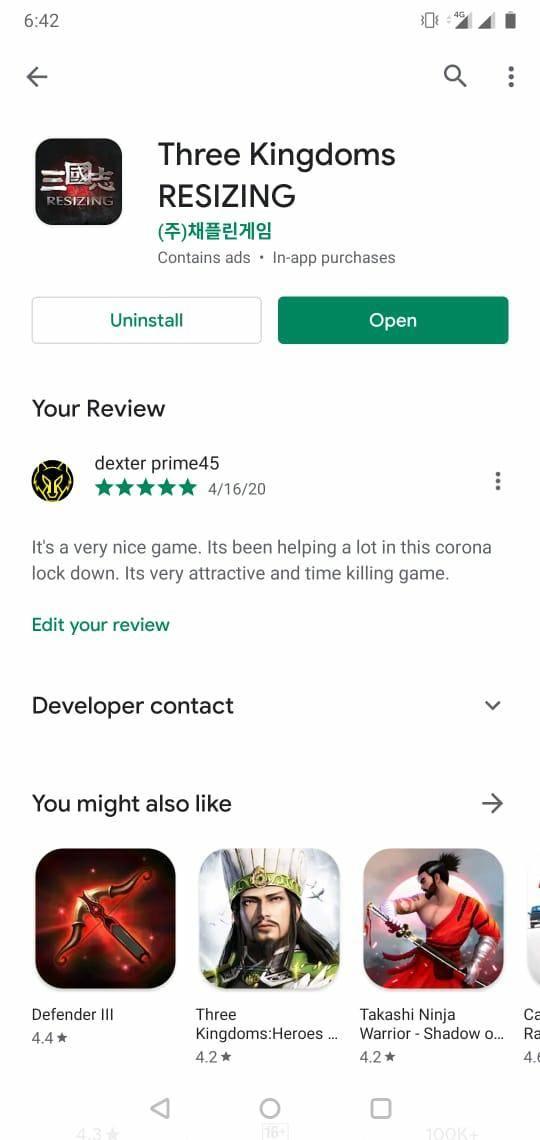 Three Kingdoms RESIZING: Market Review Board - Google review reward image 2