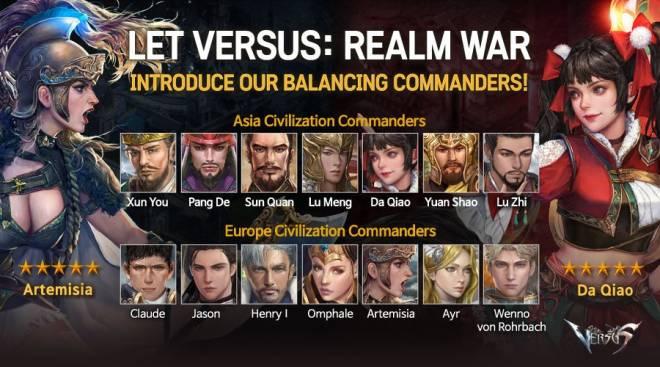 VERSUS : REALM WAR: Commander Guide - Balancing Commanders image 2