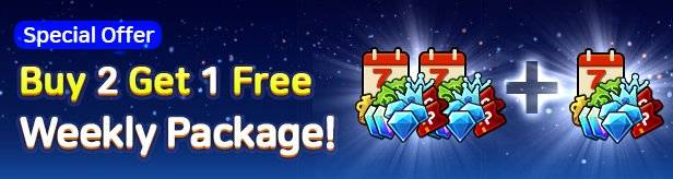 60 Seconds Hero: Idle RPG: Events - [Special Offer] Buy 2 Weekly Packages and Get 1 Free! image 1