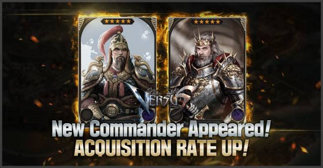 VERSUS : REALM WAR: Update Notice -  [April 24th] New Commanders Appeared! image 2