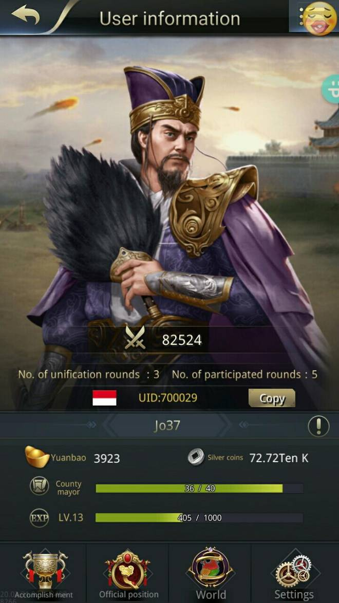 Three Kingdoms RESIZING: Limited General Board [Yuan Shao], END - Jo37/Channel 7/700029/ holla image 1