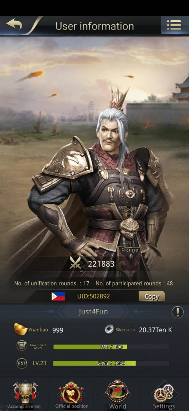 Three Kingdoms RESIZING: Limited General Board [Yuan Shao], END - Just4Fun / 502892 / Hello my lord!  image 1