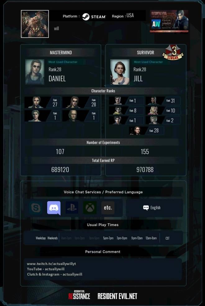Resident Evil: General - RE NET ADD ME RESISTANCE MM & JIL/TYRONE Main image 3
