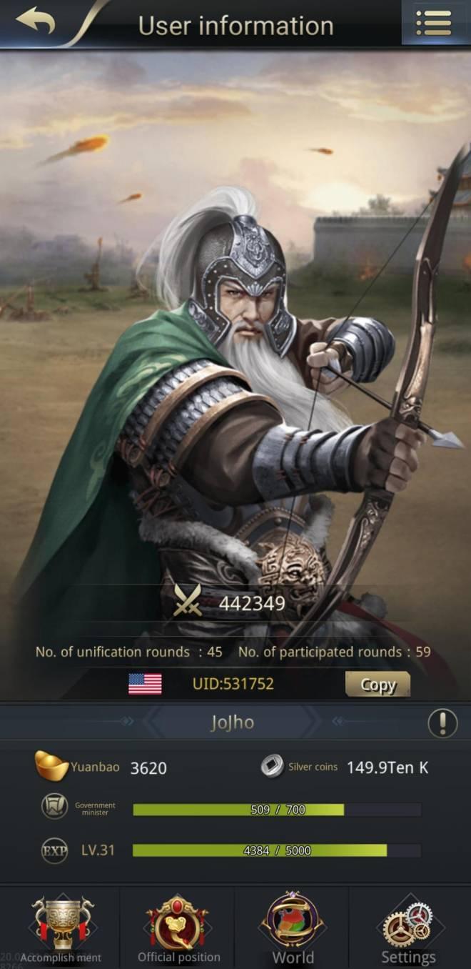 Three Kingdoms RESIZING: Limited General Board [Huang Zhong], END - JoJho / 531752 / Greeting image 1